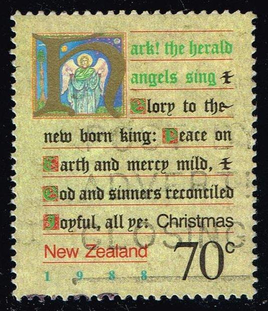 New Zealand #909 Christmas Carols; Used (0.95)