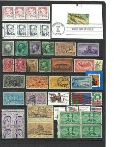 JASTAMPS: Nice Vintage US Old Stamp LOT Collection