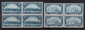 Canada #202 & #204 Very Fine Never Hinged Block Duo