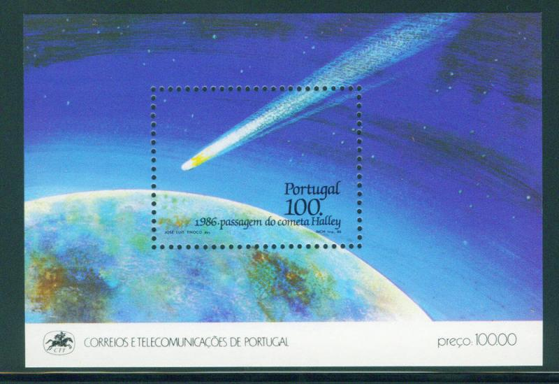 PORTUGAL Scott 1677, MNH** 1986 Halley's comet sheet