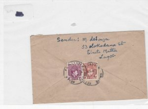 Nigeria 1948 stamps cover Ref 8704