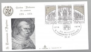 Vatican, 557a, St. Thomas Aquinas Kim Cover First Day Cover (FDC),Used