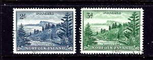 Norfolk Is 23-24 Used 1954 set