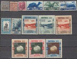 COLLECTION LOT OF #1094 ERITREA 14 STAMPS 1903+ CV+$44 (C1-C6 UNUSED NO GUM)