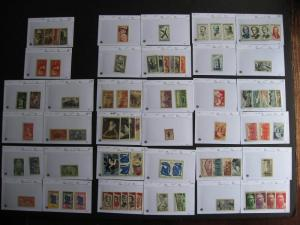 Sales cards full of France MH stamps (unverified), check them out!
