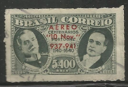 BRAZIL C45 USED, PRES VARGAS NEW CONSTITUTION  4TH ANIVERSARY