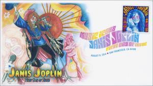 SC 4916, 2014 Janis Joplin, Digital Color Postmark , FDC,  Item 14-141