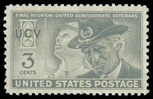 PCBstamps     US # 998 3c Confederate Veterans, 1951, MNH, (6)