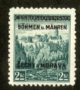 BOHEMIA & MORAVIA 14 MNH BIN $1.10 PLACE