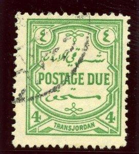 Transjordan 1929 Postage Due 4m green very fine used. SG D191. Sc J32.