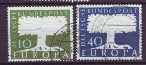 J6451 JL stamps 1957-8 germany used set2 #771-2 europa