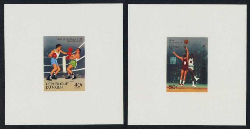 Niger 363-7 Deluxe Sheets MNH Olympic Games, Judo, Basketball, Soccer, Cycling