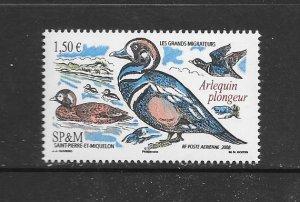 BIRDS -ST PIERRE & MIQUELON #C83  MNH