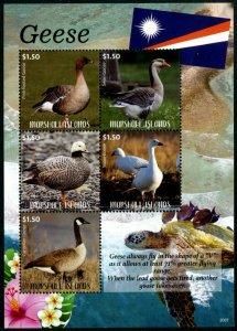 HERRICKSTAMP NEW ISSUES MARSHALL ISLANDS Geese Sheetlet