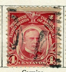 PHILIPPINES; 1908 early Portrait series issue used 4c. value