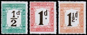 South Africa Scott J8-J10 (1922) Mint H VF Complete Set, CV $5.35 C