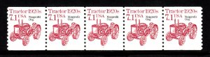 USA PNC SC# 2127a TRACTOR $0.71c. PL# 1 NON PROFIT ORG. WATER ACTIVATED PNC5 MNH