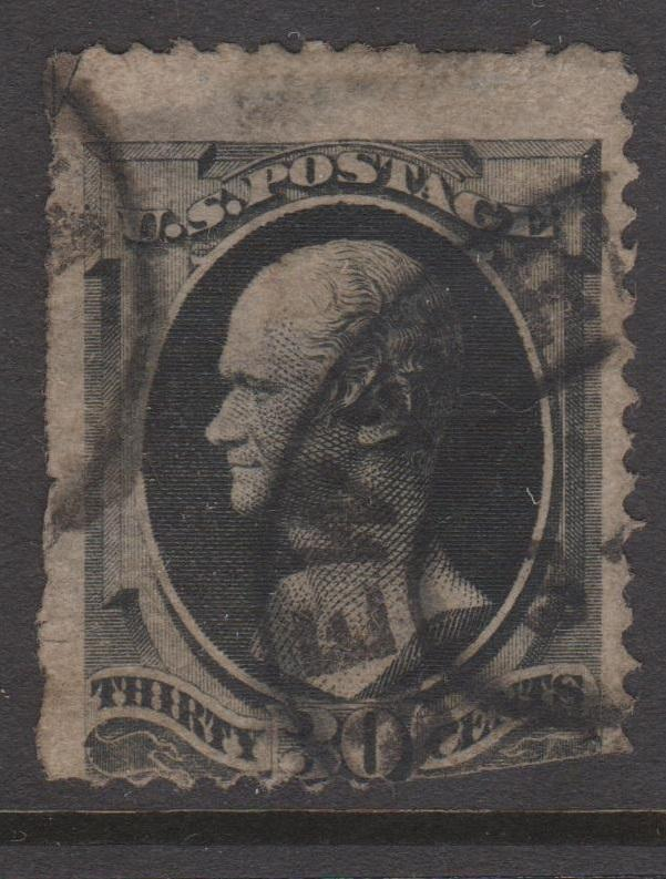 USA 1879 Sc#190 30c Black Hamilton Used Faults