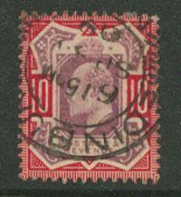 GB EDW VII SG 254   VFU Dull Purple / Carmine