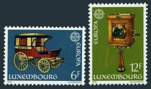 Luxembourg 624-625,MNH.Michel 987-988. EUROPE CEPT-1979. Stagecoach, Telephone.
