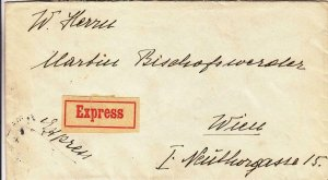 1934, Budapest, Hungary to Wein, Austria, Express (20829)