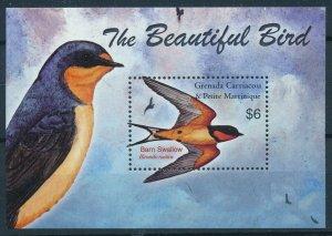 [108765] Gren. Carriacou & Petite Martinique 2003 Birds Barn Swallow Sheet MNH