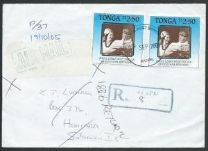 TONGA TO SOLOMON IS 2005 Registered ex Ha'apai Returned to Sender..........