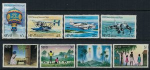 Nevis #182-9*  CV $2.90  Airplanes & Christmas sets