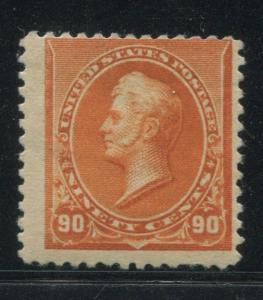 1890 US Stamp #229 90c Mint Hinged Average Original Gum Catalogue Value $450