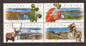 1998 Canada - Sc 1742a - MNH VF - Block of 4 - Scenic Highways - 2
