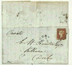 GB MALTESE CROSS Cover London MX 1843 *Kilburn* Derbys Letter {samwells}NN141