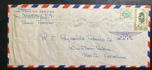 1952 Tunis Tunisia US Foreign Serv Airmail Cover to Reynolds Tobacco Winston USA