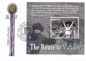 [96869] Bequia 2005 WWII Liberation Paris Special Cachet Cover