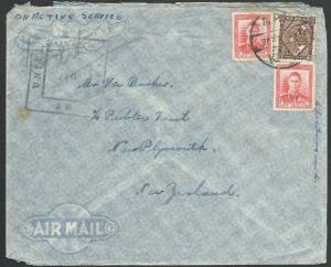 NEW ZEALAND FORCES IN EGYPT 1941 censor cover to NZ........................64648