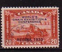 Canada Sc 203 1933 20 c Regina Grain Conference stamp used