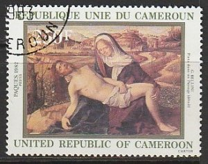 1982 Cameroun - Sc 703 - used VF - 1 single - Pieta in the Countryside - Bellini