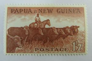 Papua & New Guinea  SC #144 Cattle  MH stamp