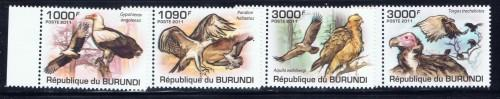Burundi 862-65 NH 2011 Birds of Prey Set