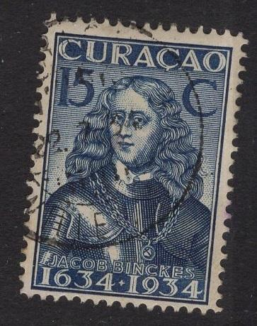 Netherlands Antilles  #118  1934 used  Curacao  300 yrs  15C