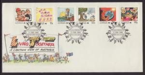 Australia 1054,1059,1066-1067,1070,1076 Living Together U/A FDC