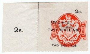 (I.B) QV Revenue : Consular Service 2/- (specimen)