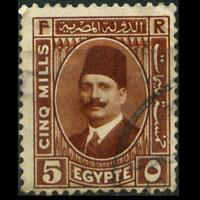 EGYPT 1929 - Scott# 135 King Fuad 5m Used