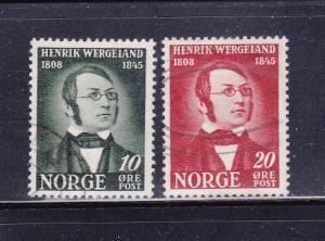 Norway 269, 271 U Henrik Wergeland, Poet (B)