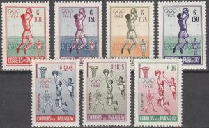 Paraguay #556-9, C262-4  MNH F-VF (SU3427L)
