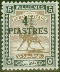 Sudan 1941 4 1/2p on 5m Olive-Brown & Black SG79 Fine Lightly Mtd Mint (3)