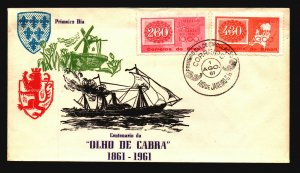 Brazil 1961 Stamp Series FDC / Nice Cachet / UA - L3610