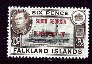 Falkland Is-South Georgia 3L6 MH 1944 issue    (ap4314)