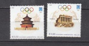 J26228  jlstamps 2004 greece set mnh #2124-5 olympics