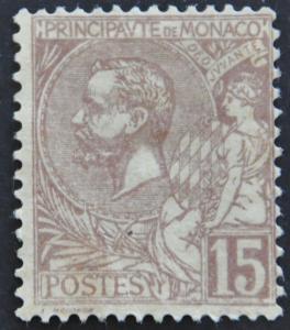 DYNAMITE Stamps: Monaco Scott #18 – UNUSED