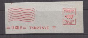MADAGASCAR et Dependencies, Meter, 1952 Satas, Proof strike piece, SD 006, 000f.